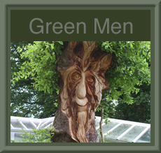 Greenmen Sculptures by Paul Sivell